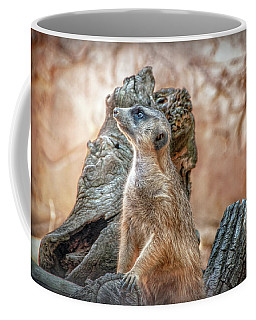 Coffee Mug featuring the photograph Slender-tailed Meerkat by Hanny Heim