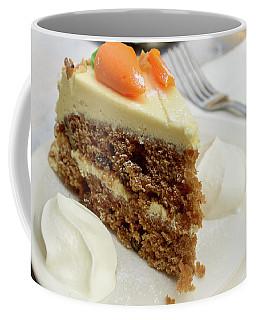 Coffee Mug featuring the photograph Slice Of Carrot Cake With Cream A by Jacek Wojnarowski