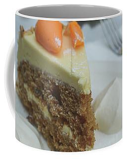 Coffee Mug featuring the photograph Slice Of Carrot Cake With Cream B by Jacek Wojnarowski