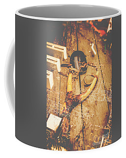 Slingshot With Mouse. Cyber Attack Coffee Mug