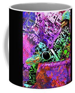 Coffee Mug featuring the mixed media Slouch by Tony Rubino
