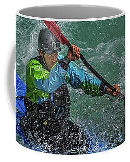 Coffee Mug featuring the photograph Slovenia Kayaker by Stuart Litoff
