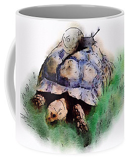 Coffee Mug featuring the painting Slow Down You Will Kill Us Both by Mark Taylor