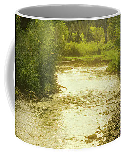 Coffee Mug featuring the photograph Slow Stretch Of River by John Brink