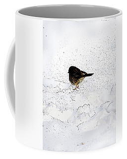 Small Bird On Snow Coffee Mug by Craig Walters