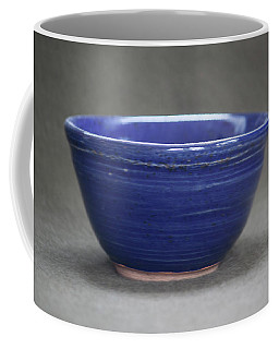 Small Blue Ceramic Bowl Coffee Mug by Suzanne Gaff