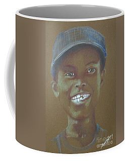 Small Boy, Big Grin -- Retro Portrait Of Black Boy Coffee Mug