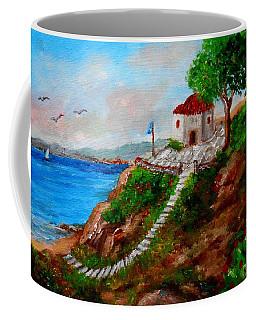 Small Church In Greece Coffee Mug