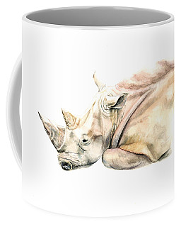 Small Colour Rhino Coffee Mug