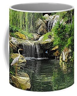 Small Creek Waterfall With Wildlife Coffee Mug