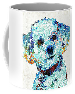Small Dog Art - Who Me? - Sharon Cummings Coffee Mug