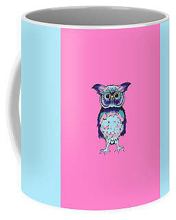 Small Owl Pink Coffee Mug