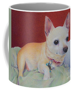 Coffee Mug featuring the painting Small Package by Pamela Clements