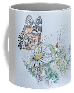 Coffee Mug featuring the drawing Small Pleasures by Rose Legge
