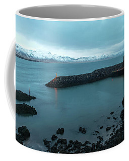 Coffee Mug featuring the photograph Small Port Near Snaefellsjokull Mountain, Iceland by Dubi Roman
