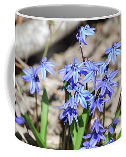 Small Tiny Purple Flowers In A Garden Coffee Mug