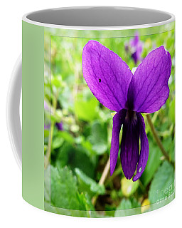 Coffee Mug featuring the photograph Small Violet Flower by Jean Bernard Roussilhe