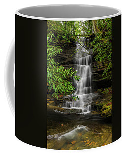 Small Waterfalls In The Forest. Coffee Mug
