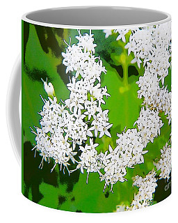 Small White Flowers Coffee Mug by Craig Walters