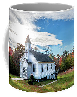 Small Wooden Church In The Countryside During Autumn Coffee Mug