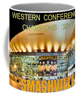 Coffee Mug featuring the photograph Smashville Western Conference Champions 2017 by Lisa Wooten