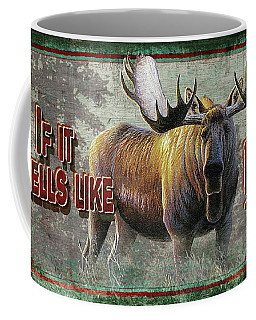 Smells Like Bull Sign Coffee Mug