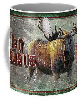 Smells Like Bull Sign Coffee Mug