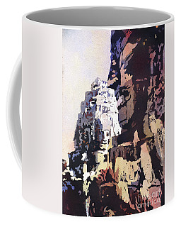 Coffee Mug featuring the painting Smiling Faces- Bayon Temple, Cambodia by Ryan Fox
