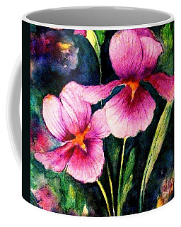 Smiling Iris Faces  Coffee Mug by Hazel Holland