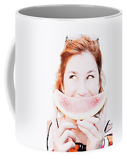 Smiling Summer Snack Coffee Mug