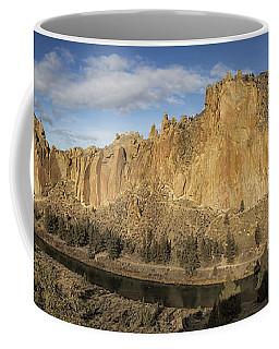 Smith Rock And Crooked River Panorama Coffee Mug