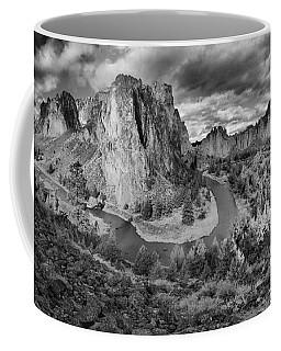 Smith Rock Black And White Panorama Coffee Mug