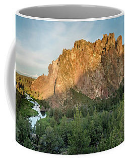 Coffee Mug featuring the photograph Smith Rock First Light by Greg Nyquist