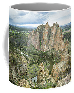 Coffee Mug featuring the photograph Smith Rock From Misery Ridge by Tim Newton