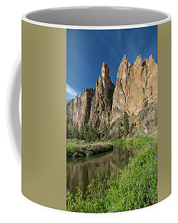 Coffee Mug featuring the photograph Smith Rock Spires by Greg Nyquist