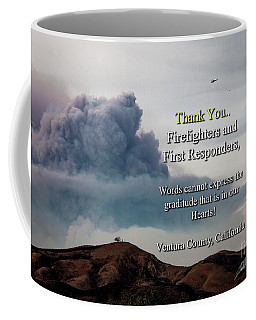 Smoke Cloud Over Two Trees Coffee Mug