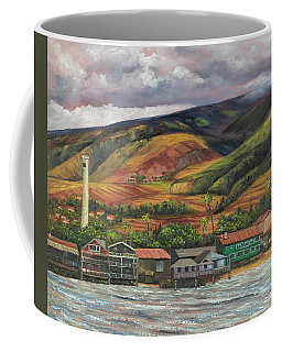 Coffee Mug featuring the painting Smokestack Lahaina Maui by Darice Machel McGuire