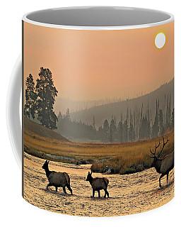 Smokey Elk Crossing Coffee Mug
