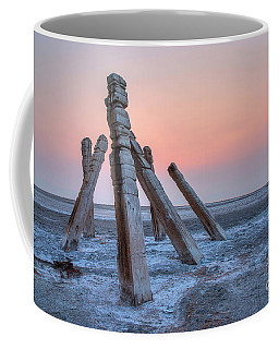 Coffee Mug featuring the photograph Smokey Sunset by Spencer Baugh