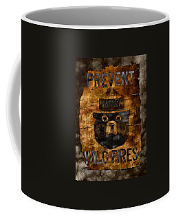 Smokey The Bear Only You Can Prevent Wild Fires Coffee Mug by John Stephens