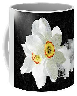 Smokey White Floral Coffee Mug