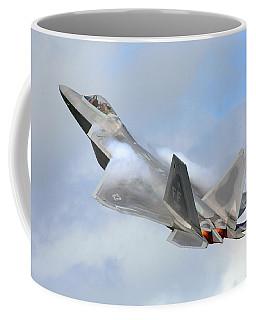 Coffee Mug featuring the digital art Smokin - F22 Raptor On The Go by Pat Speirs