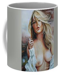 Smoking Woman Coffee Mug