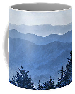 Coffee Mug featuring the painting Smoky Mountains Morning Fog by Christopher Arndt