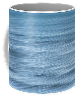 Smooth Blue Abstract Coffee Mug by Terry DeLuco