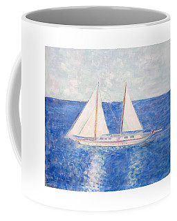 Sailing Around Greek Islands Coffee Mug