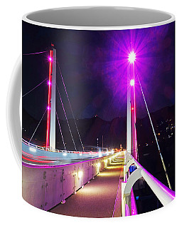 Sxm Saint Martin Bridge Lit Up At Night Coffee Mug