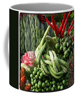 Coffee Mug featuring the photograph Snake Beans. At The Surin Elephant by Mr Photojimsf