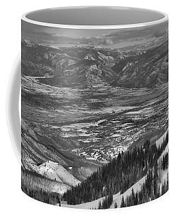 Snake Creek Pass Valley Views Black And White Coffee Mug