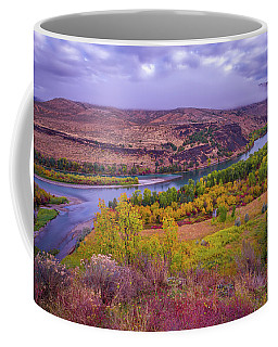 Coffee Mug featuring the photograph Snake River Fall Beauty  by Scott McGuire
